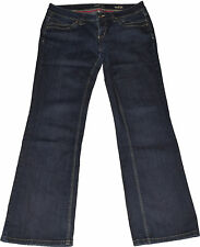 Indigo -/dark-washed Only Damen-Jeans mit mittlerer Bundhöhe