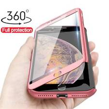 For iPhone 12/12 Pro Max 11 XS XR 8 7 360° Shockproof Case Cover +Tempered Glass