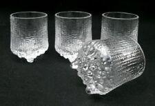 4 x IITTALA FINLAND ULTIMA THULE SHOT GLASSES TAPIO WIRKKALA SCANDINAVIAN MODERN