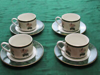 VTG Hallmark Home Collection Juliana by Sakura cups / saucers 8 pcs pink green