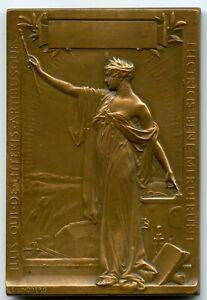 Sweden 1908 Bronze Art Nouveau Medal Cedergren Electricity by Lindberg