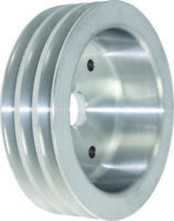 Small Block SB Chevy Aluminium 3 Groove Short Pump Crank Pulley 283 327 350