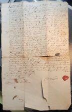 "New listing Original 1733 Ink Manuscript Ship Bill of Sale Ipswich Ma Schooner ""Expedition"""