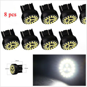 8 Pcs DC12V T20 7443 W21/5W 4014 19SMD LED Car Reverse Brake Lights Turn Signal
