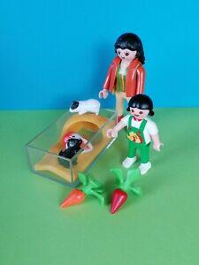Playmobil 4348 Meerschweinchenterrarium, Meerschweinchen, Mama und Kind