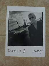 David J Alternative 8x10 B&W Publicity Picture Promo Photo