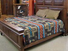 #3889 Reversible Fine Navajo Design Southwest Bedspread QUEEN Throw Blanket Bed