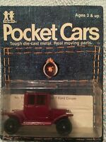 Tomy Pocket Cars, 1915 Model T Ford Coupe #112-F11 New in Package Unpunched