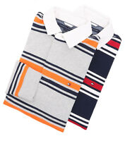 Tommy Hilfiger Men's Long Sleeve Custom Fit Stripe Polo Rugby - $0 Free Ship
