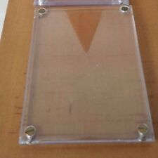 """3 Trading Card Holder Rigid Plastic Screw Down Protective Covers  1/4"""" Thick 5"""""""