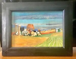 Original Oil Painting of an Amish Farm in Pennsylvania by Michael F. Graham