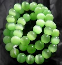 """New 8mm Green Cat Eye Round Loose Beads 15""""CH##392"""