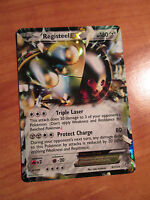 NM Pokemon REGISTEEL EX Card DRAGONS EXALTED Set 81/124 Black White Ultra Rare