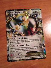 Pokemon REGISTEEL EX card DRAGONS EXALTED Set 81/124 Black and/&White BW B&W TCG