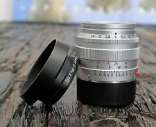 "Leica Summilux M 50mm 1.4 ""Traveller"" E43 silver chrome silbern No.3589248"