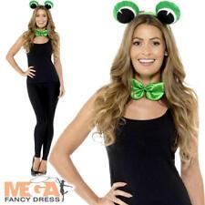 Adult Frog Kit Ladies Fancy Dress Ears Tail Fairy Tale Animal Costume Accessory