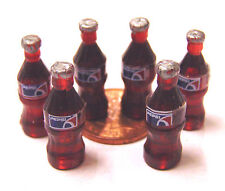 1:12 Scale 6 Small Pepsi Bottles Tumdee Dolls House Pub Bar Cafe Shop Drink B