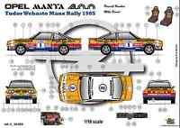 [FFSMC Productions]  Decals 1/18 Opel Mantal 400 n°5 Tudor Webasto Manx Rally 85