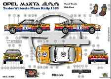 [FFSMC Productions]  Decals 1/18 Opel Mantal 400 n°5 Tudor Webasto Manx Rally 85