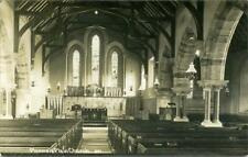 REAL PHOTO POSTCARD OF PLUMMERS PLAIN CHURCH INTERIOR, (NEAR HORSHAM), SUSSEX