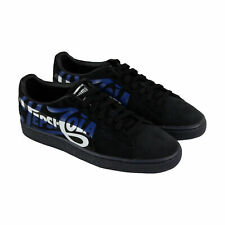Puma Suede Classic X Pepsi Logo 36633202 Mens Black Lace Up Low Top Sneakers