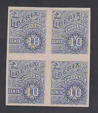 Liberia # O101 MINT Proof Block MISSING OS (no gum)