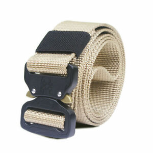 New Military Tactical Belt Mens Army Combat Waistband Rescue Rigger Belts buckle