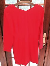 Red Jones New York Long Sleeve Dress