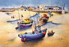 """""""LOW TIDE"""" Original Lithograph from Landmarks of France Series s/n By Rafflewski"""