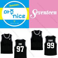 KPOP Seventeen 17 DINO Basketball Singlet T-Shirt HOSHI Sleeveless Solar Men JUN