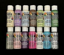 LOT OF 14 - DECOART CRAFTER'S ACRYLIC PAINTS - BRAND NEW - ASSORTED COLORS