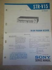 Sony Service Manual~STR-V15 Receiver~Original~Repair