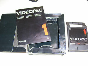 Philips Videopac Game 1980 * 1 RACE / SPIN OUT / CRYPTOGRAM * CARDBOARD EDITION