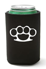 Brass Knuckles Can Koozie Coolie Gun Bottle Cooler Cozy Anarchist Punk Metal