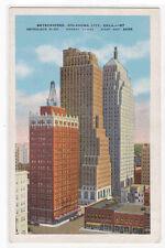 Skyscrapers Oklahoma City Oklahoma OK linen postcard