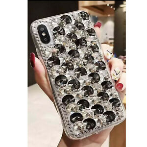 NEW CLEAR RHINESTONE DIAMOND DESIGNER BLING DIAMANTE CASE COVER MOBILE PHONES UK