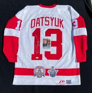 Pavel Datsyuk Signed Detroit Red Wings 2002 & 2008 Cup Pro Player Jersey JSA COA