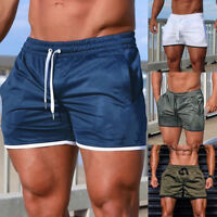 Men's Casual Short Pants Workout Gym Trunks Running Sports Beach Boxer Shorts US
