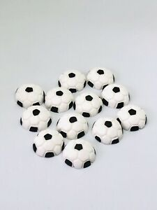 12 Soccerball Sports Cupcake Toppers Edible Fondant decoration soccer ball balls