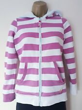 LADIES JOULES ZIPPING HOODIE SZ S,PINK, WHITE, STRIPED