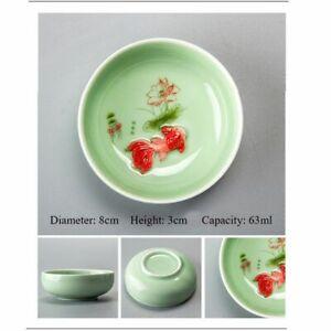 Chinese Tea Cup Porcelain Celadon Fish Teacup Teapot Chinese Tea Cup Drinkware
