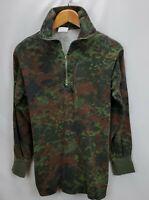 Vintage GE Kohler Camo Camouflage German Military Miltec 1/4 Zip Shirt Small