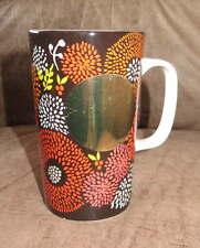 STARBUCKS Tall 16 oz GOLD Dot Circle Floral Fireworks Burst MUG Cup Coffee Tea