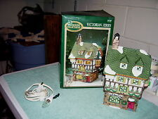 Dickens Collectables Victorian Black Forest Cafe Porcelain Lighted House, 1997