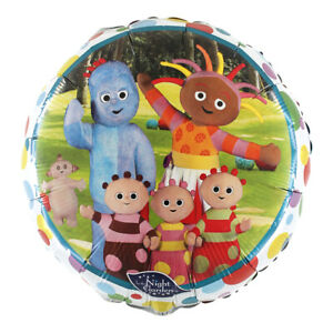 """IN THE NIGHT GARDEN LICENSED 18"""" ROUND FOIL BALLOON - IGGLE PIGGLE"""