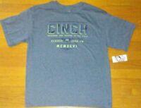 Lot of 12 Cinch Western Shirt Boys Kids S/S Jersey Tee Crew Blue sz XL (14)