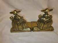 Vintage Brass By Peerage Drusilla Book Ends In Great Condition