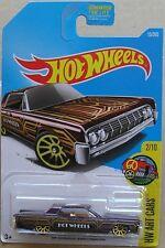 Hot Wheels 2017 15 of 365 '64 Lincoln Continental Hotwheels Art Cars - Long Card