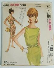 6181 MCCALL'S SEWING PATTERN SIZE 13 BUST 33 EASY MARK MISSES JUNIOR DRESS UNCUT