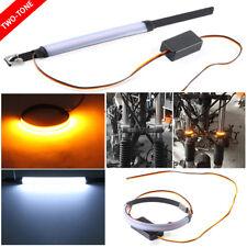 1X White/Amber Motorcycle Fork Turn Signal/Running Light Kit w/ For Motorcycle
